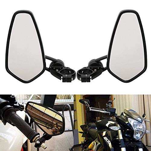 OSAN Retrovisor de Motocicleta, Universal Motocicleta Espejos Retro 22 7/8 mm para Manillar de Moto Aluminio CNC de Efecto Espejo Trasero Vista Lateral
