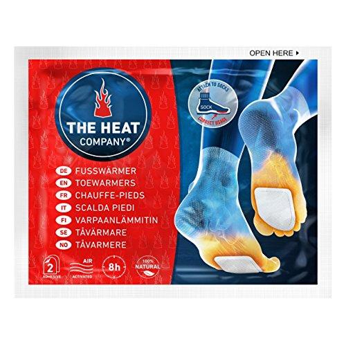 THE HEAT COMPANY Fußwärmer - EXTRA WARM - klebend - Zehenwärmer - 8 Stunden warme Füße - sofort einsatzbereit - luftaktiviert - rein natürlich - für alle Größen - 5 Paar