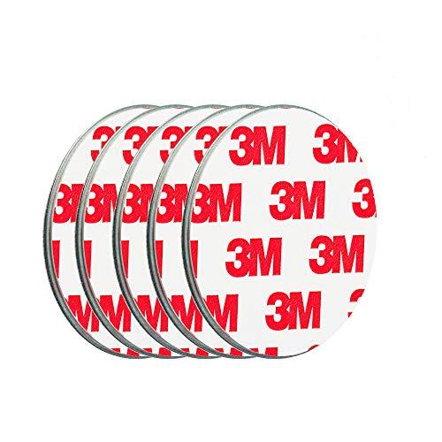 ECENCE Rauchmelder Magnethalter 5 Stück selbstklebende Magnethalterung für Rauchmelder Ø 50mm schnelle & sichere Montage ohne Bohren und Schrauben für alle Feuermelder und Rauchwarnmelder