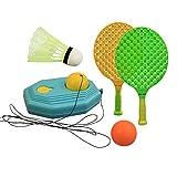 Kids Tennis Racket - Portable Tetherball Set, Plastic Badminton Tennis Rackets...