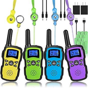 rechargeable walkie talkies 4 pack