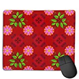 Gaming Mouse Pad Marine Background with Flowers Seashells Mandalas Mice Mouse Mat for Computer PC & Mac Gamers