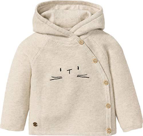 lupilu® Baby Mädchen Strickjacke mit Stickerei aus 100% Bio-Baumwolle (beige, Gr. 74/80)