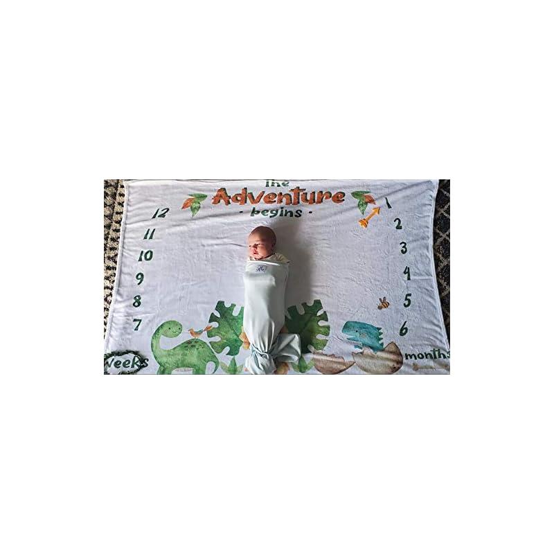 crib bedding and baby bedding baby monthly milestone blanket elephant jungle - girl boy calendar photo blanket for newborns nursery with props - large extra plush fleece baby growth chart blanket