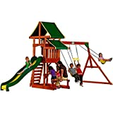Skrootz Swing Set Wooden Playground Slide
