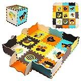 StillCool Puzzle - Alfombra de espuma para bebé con cercado (25 piezas), muy resistente para niños, números
