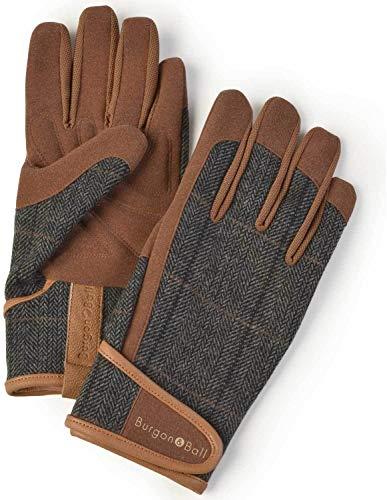 Burgon and Ball Garten-Handschuhe Herren–Dig the Glove Tweed Größe M/L