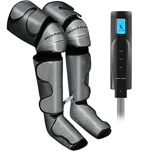 Foot and Leg Massager for Circulation with Knee Heat - Calf and Thigh Massager for Air Compression Calf Wraps Helpful for Muscle Fatigue, Swelling and Edema - Gifts for Men/Women/Mother/Father