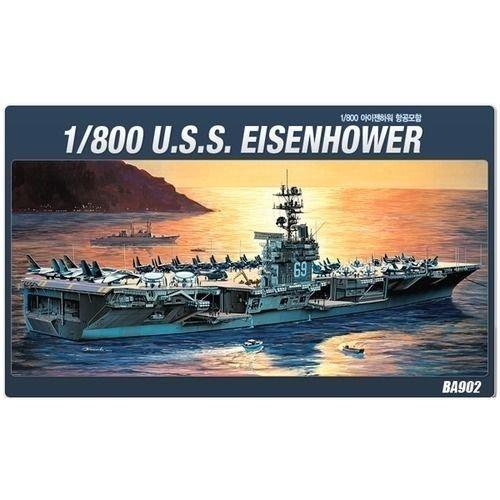 Academy 1/800 U.S.S. Eisenhower Aircraft Carrier Ship Plastic Model Kit #14212