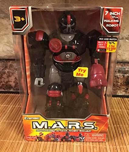 Cybotronix M.A.R.S. Motorized Attack Robo Squad - Red Robot