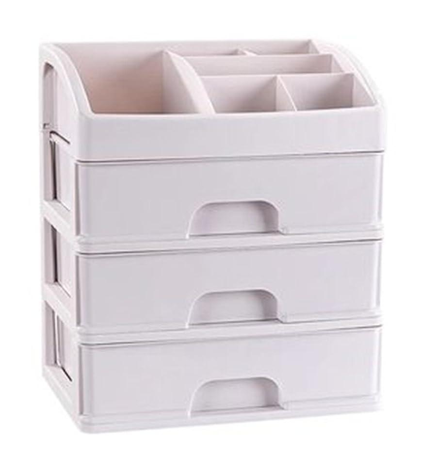 地下鉄元の緊急ZUOMAメークボックス 化粧品収納ボックス コスメスタンド 引き出し式 メークケース 小物/化粧品入れ コスメ収納 透明アクリル 大容量 (ホワイト27.6*20*31.7CM(3層))