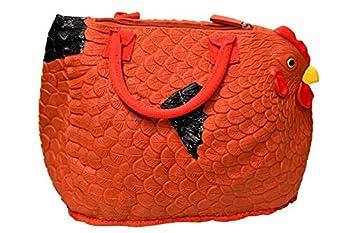 Hen Couture Rubber Chicken Purse - Rhode Island Red Hen Bag Handbag