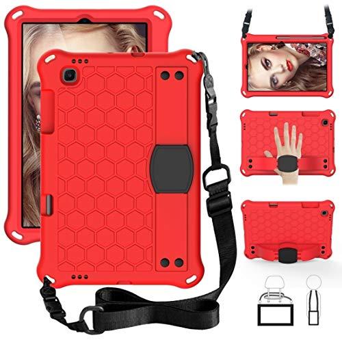 XINGCHEN - Carcasa para tablet Sansung Galaxy Tab S6 Lite P610, diseño de panal de abeja EVA + material de PC, cuatro esquinas anti caída, con funda protectora plana (color: rojo + negro)