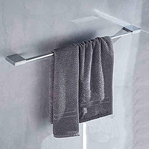 GaoF Toallero Toallero/Toallero de baño Totalmente de Cobre Cuartos de baño Cuadrados con Toallero sólido con Varilla de pistón Unilateral