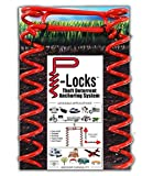 P-Locks Theft Deterrent Anchoring System and Ground Anchor. Tie Down or Stake to Secure Tents, Canopies, Awnings, etc. Earth Anchor to Protect Camping and RV Equipment, Hunting Gear, Bicycles and More