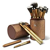 CINEEN 12 PC Brochas Maquillaje Set Profesional Sintético Set Brochas maquillaje Pinceles Maquillaje Profesional Makeup Brushes+ Bolso