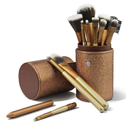 CINEEN Make up Pinselset 12 Stück Schmink Pinsel Kosmetikpinsel Travel Make-up Cup Kosmetikkoffer...