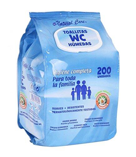 Natural Care BY11020260856 - Toallitas húmedas, 200 unidades, con tapa