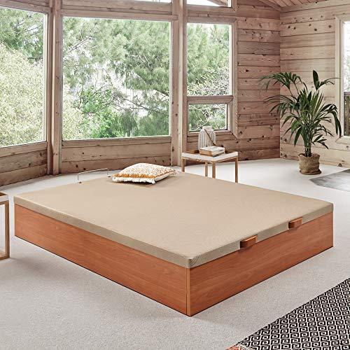 Komfortland Canapé abatible Wood de Home Medida 135x190 cm Color Cerezo