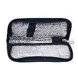 Borsa termica per diabetici portatile per insulina Borsa portatile diabetici per portatile per isolamento medico (2 colori) (Colore : Navy Blue)
