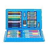 XJLJ Marcadores Acuarela Plumas del Arte Cepillo Marcador de resaltado Lápiz de Color del Dibujo del Sistema de bocetos Escuela de Pintura Pluma Suministros Marcadores Set (Color : Blue, Size : 42)