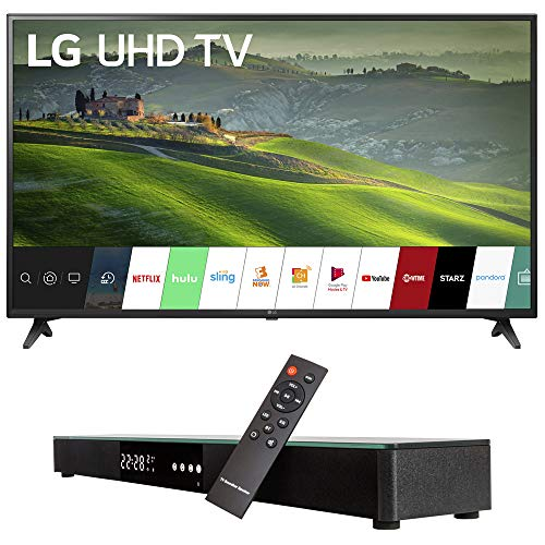 LG 60UM6900 60-inch HDR 4K UHD Smart LED TV (2019) Bundle with Deco Gear Home Theater Surround Sound 31-inch Soundbar and 6ft Optical Toslink 5.0mm OD Audio Cable