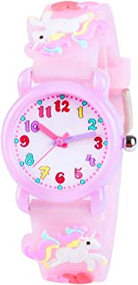 Venhoo Kids Watches 3D Cute Cartoon Waterproof Silicone Children Toddler Wrist Watch Birthday Gift for 3-10 Year Girls Lit...