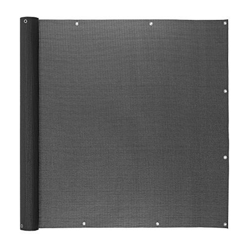 Ventanara Balkonverkleidung Sichtschutz PVC Balkonumspannung Zaun Verkleidung Blende Windschutz Folie 500 x 75 cm Anthrazit