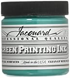 Jacquard Professional Screen Print Ink, Water-Soluable, 4oz Jar, Turquoise (113)