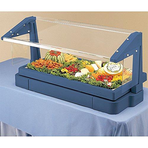 Cambro Navy Blue 3 Pan Tabletop Salad Bar