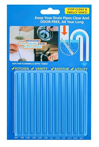Abflussreiniger Drain Sticks Rohrreiniger Enzymreiniger - für verstopfte Rohre in Küche, Bad und Dusche Drain Cleaner (12 Stück)