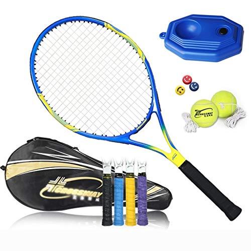 Raquetas De Tenis Para Niños Adultos Juego para Principiantes Carbono Única Principiante Resistente A Golpes Equipos Deportivos De Entrenamiento