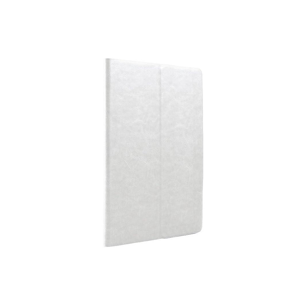 ラジカル二層調和のとれたiBUFFALO iPad mini 3 (2014年) レザーケース マルチアングル 液晶保護フィルム付 ホワイト BSIPD714LMWH 【6タイプのアングルで立てられる上質な手触り】