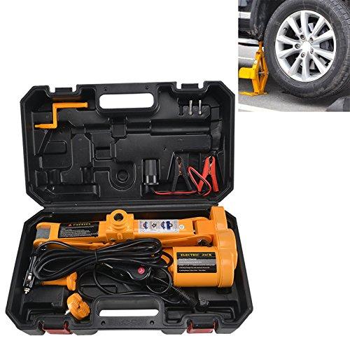 JUEYAN 12V Scherenwagenheber Elektrischer Wagenheber KFZ Hydraulikheber Autoheber Auto PKW Scherenlift 2.5T Reifenwechsel Werkzeug