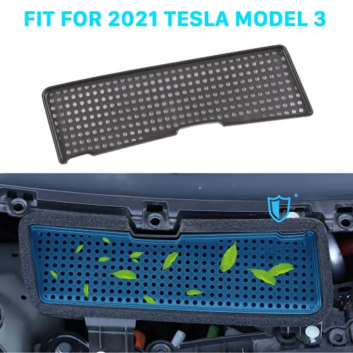 Carwiner Compatible with 2021 Model 3 Air Intake Grille Protection Cover ABS Plastic Air Flow Vent Intake Air Conditioning Grille Inlet Accessories