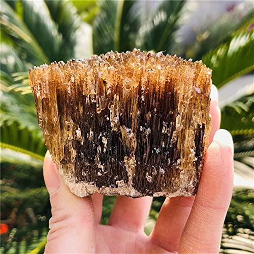 WERWER Natural Amarillo ámbar calcita Piedra cruda Cristal Gema Colección de Roca áspera Especímenes minerales Decoración del hogar (Size : 130 180g)