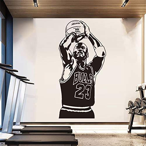 adesivo murale Basket Michael Jordan 23 Home For Kids Room Decorazione Camera Da Letto Decor