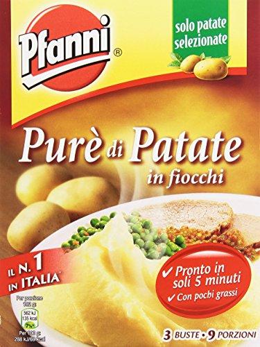 Pfanni - Purè di Patate, in fiocchi, pronto in soli 5 minuti, 3 buste - 225 g 9 porzioni