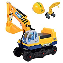 Push power: This Ride On Excavator Digger Truck has everything your little one will love. A brilliant way to help develop their important key skills through play. Great design: A sturdy and stable design. Wide, hard wheels for safety and balance. Min...