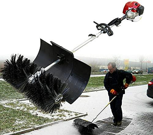 Benzin Motorbesen Kehrmaschine Schneefräse 52cc 2.3PS Sweeper Handkehrmaschine Kunstrasen Power Bürste Rasen Reinigungswerkzeug