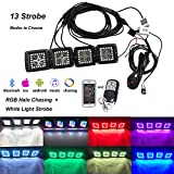 Beoggs RGB Chasing Led Light Pods 3inch Off Road...