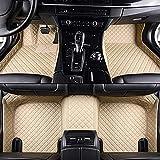 Alfombrillas Coche para Volkswagen Scirocco 2010-2017 Alfombrilla Impermeables para Todo Clima Antideslizantes Alfombras Coche Accesorios-Beige