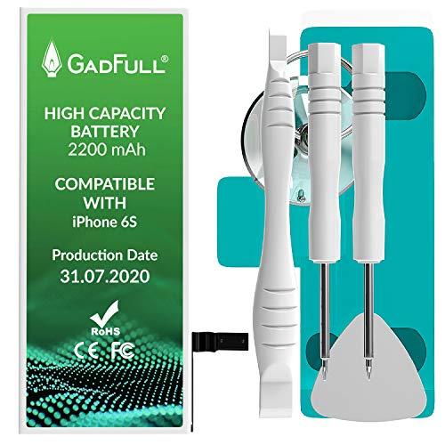 GadFull Batteria ad Alta Capacità compatibile con iPhone 6s | incl. Set di riparazione manuale & Kit strumenti Profi | Nuova Batteria Cellulare Extra