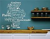 wandaufkleber sterne Küche-Wörter Selbst gemachter Geschmack-Liebe für Küche