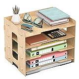 JOPOO Bandeja para Cartas de Oficina, 4 Niveles, tamaño A4, Organizador de...