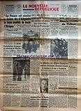 NOUVELLE REPUBLIQUE (LA) [No 4416] du 24/03/1959 - LA FRANCE RESOLUE A FAIRE DE L'ALGERIE LA TERRE MODELE DE TOUTE L'AFRIQUE AFFIRME A CONSTANTINE MICHEL DEBRE -DES MEURTRIERS ONT-ILS TENTE DE CACHER UN CORPS AU CIMETIERE D'AIX-EN-PROVENCE -LE DR SCHWEITZER 1ER LAUREAT DU PRIX SONNING -LE DR DEVRAIGNE PRESIDENT DU CONSEIL MUNICIPAL DE PARIS -REUNION DES MINISTRES DES AFFAIRES ETRANGERES AMERICAIN / BRITANNIQUE / ALLEMAND ET FRANCAIS A WASHINGTON -LE DRAME DE LA NAPOULE -SORAYA A ROME -L'INDE NE