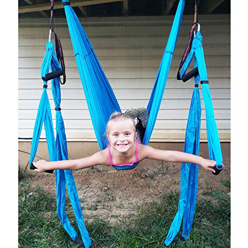 Carabiners and Carrying Bag Ultra Strong Antigravity Yoga Hammock//Trapeze//Sling for Air Yoga Inversion Exercises Include 2 Extensions Straps Bormart Aerial Yoga Swing