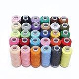 30 colores Bobina de surtido de hilo de coser 250 yardas Cada hilo de poliéster Kit de costura Hilo de poliéster de uso múltiple para coser a mano y a máquina