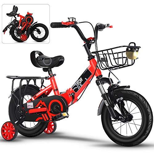 20 Pulgadas Bicicletas Infantiles, Bici Plegable niño con Frenos y Ruedines, Edición...