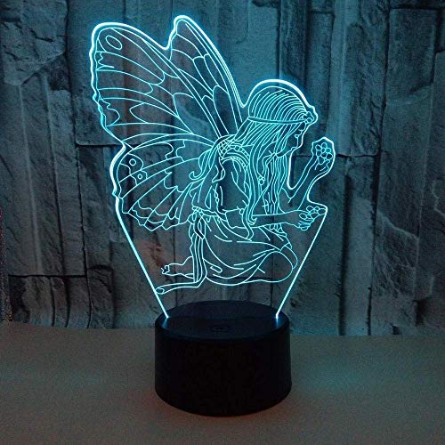 3D Phantom Licht Nieuwe Engel 3D Nachtlampje Afstandsbediening Kleur Touch LED Vision 3D Tafellamp Gift Atmosfeer 3D Tafellamp